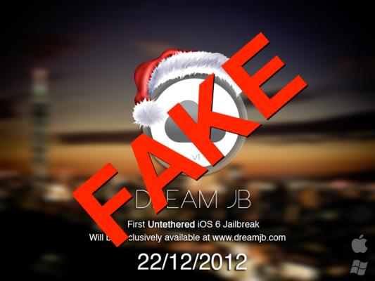 Dream jailbreak, fake, untethered, ios 6, 6.0.1, fecha, lanzamiento, 22 diciembre