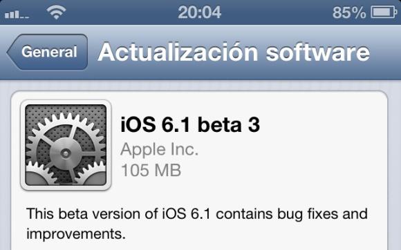 ios 6.1, beta 3, iphone, ipad, jailbreak, untethered, tethered, novedades