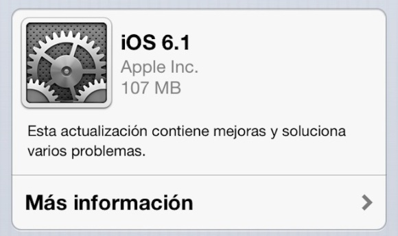 iOS 6.1, lanzamiento, actualizar, jailbreak, ios 6, novedades, cambios