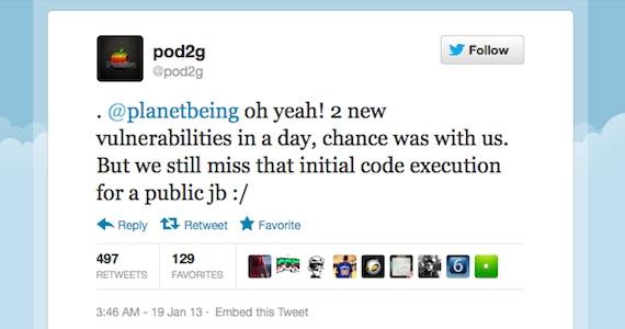 planetbeing, pod2g, jailbreak untethered ios 6, ios 6.1, fecha, lanzamiento, redsn0w, novedades, noticias